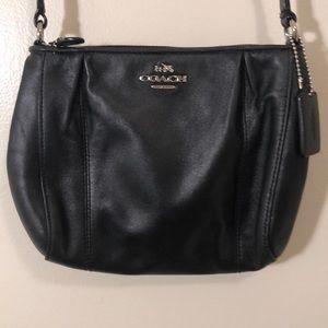 Black COACH small crossbody purse